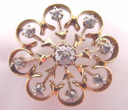 ANTIQUE GOLD & DIAMOND PIN