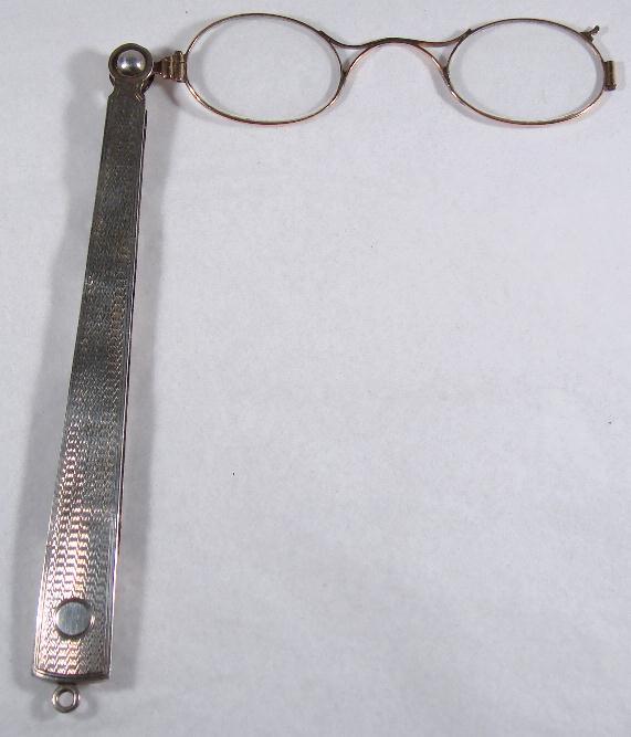 ENGLISH STERLING & GOLD LORGNETTE
